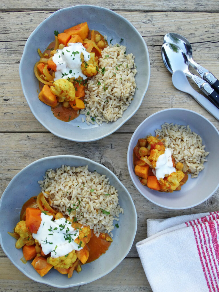 Daddelicious - Sweet potato and cauliflower curry - vegetable curry recipe for babies