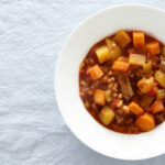 Daddelicious - Beef apricot and bean stew family recipe