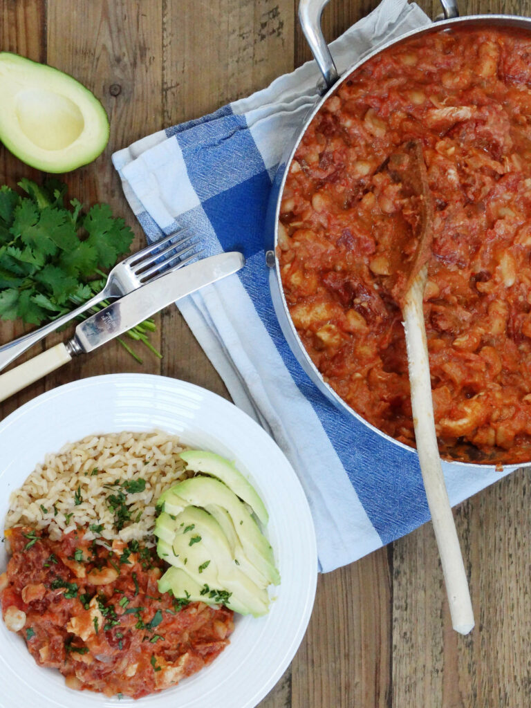 Daddelicious - Chicken and cannellini bean stew recipe