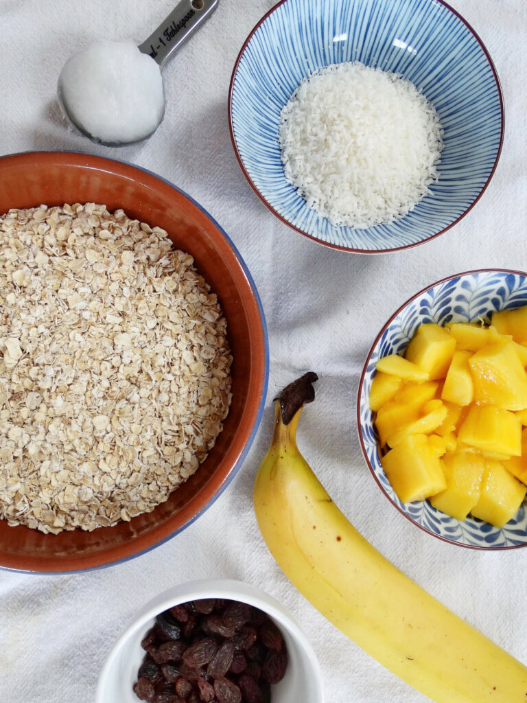 Daddelicious - Coconut and mango flapjack - baby snack food