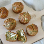 Daddelicious - Courgette spinach and feta muffins - snack ideas for kids