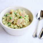 Daddelicious - Prawn and pea risotto - risotto for babies