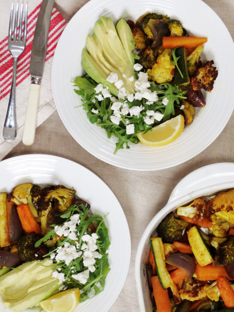 Daddelicious - Roasted vegetables with turmeric - baby led weaning finger food ideas